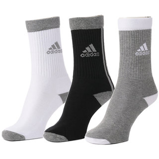 Adidas Men's Full Cushion Crew Socks (Pack of 3)
