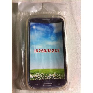 2 in 1 Soft Jelly Silicone Back Cover Case For Samsung Galaxy Core I8262 I8260