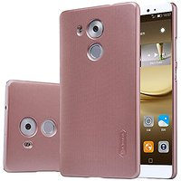 Huawei Ascend Mate 8 Case , Lwang Nillkin Frosted Shield Matte Plastic Slim Case Cover Shell Huawei Ascend Mate 8 Case (With Screen Protector) (frosted rose gold)