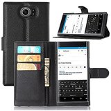 BlackBerry Priv Case, Vikoo Stand Flip Wallet Case with Built-in Card Slots, Premium PU Leather Wallet Cover Case for BlackBerry Priv Phone (Black)