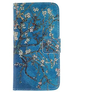G530H Case, Galaxy Grand Prime Case, Love Sound [Almond Tree]Luxury PU Leather Case Flip Cover with Card Slots Stand for Samsung Galaxy Grand Prime G530 ...