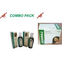 KESHRAJ HAIR OIL & CAPSULE (COMBO PACK)- Remedy For Hair Falling
