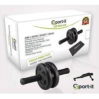 Top Quality Ab Roller + Knee Mat + BONUS Workout Guide