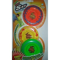 Maui Toys Pop Mini Sky Bouncer Flying Discs Set Of 3