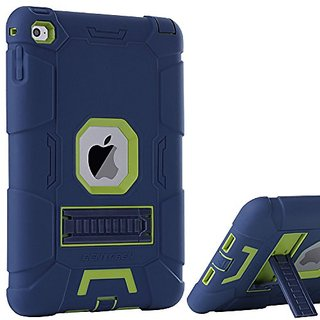 Ipad Mini 4 Case Retina Bentoben 3 In 1 Hybrid Soft Hard Heavy Duty Rugged Stand Cover Shockproof Anti Slip Scratch Full Body