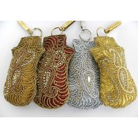 Indian Designer Traditional Hand Work Mobile Purse Gift #2008