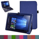 """Lenovo MIIX 310 Case,Mama Mouth PU Leather Folio Stand Cover for 10.1"""" Lenovo MIIX 310 Windows 10 Detachable 2-in-1 Laptop/Tablet,Dark Blue"""