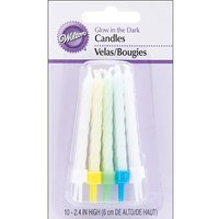 Wilton W2811165 Glow In The Dark Candles, 3-Inch, Celeb
