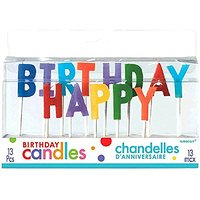 Party Time Molded Letter Birthday Toothpick Candles, Pa