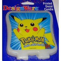 Pokemon Pikachu Printed Sticker Candle Cake Topper By D