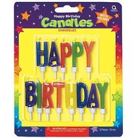 Party Time Molded Letter Birthday Candles With Holder,
