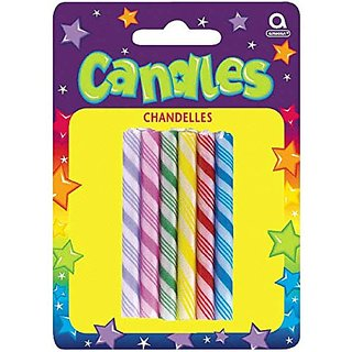 Party Time Large Candy Cane Novelty Birthday Candles, P
