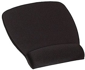Mouse Pad with Wrist Rest, Black, Antimicrobial Product Protection