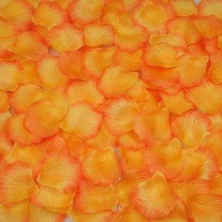 Futaba Silk Rose Artificial Rose petals - Orange - 100 Pcs