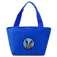 Caroline's Treasures SC9141BU Australian Cattle Dog Lunch or Doggie Bag, Large, Blue
