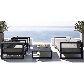 Iron Sofa Set In Black Color