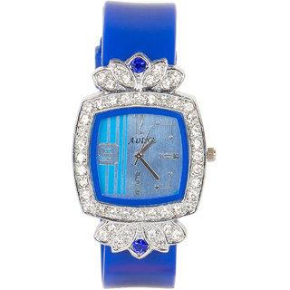 blue dail watch for women