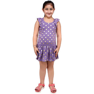 Lazy Shark Girls Slim Fit Printed Dress