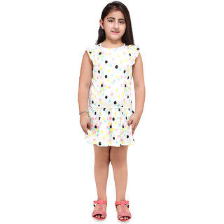 Lazy Shark Girls Slim Fit Geomatric Printed Dress