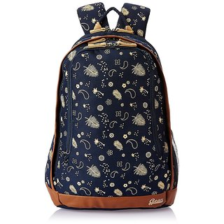Navy Blue and Beige Casual Backpack