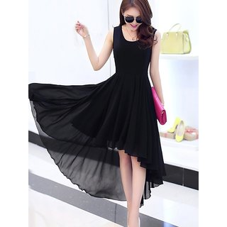 Black Hi Low Long Dress (101JAN2017)