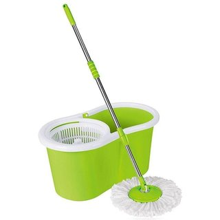 Green Rotating Bucket Mop Dealsnbuy (as per colour available)