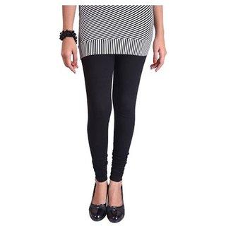 Cotton Lycra Leggings (Black)