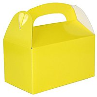 Yellow Party Treat Boxes (Pack Of 12)