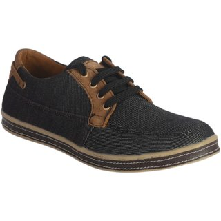 Lee Peeter Men Black Lace-up Fabric Casual Shoes