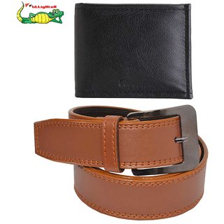 Elligator Belt With Wallet Combo For Men