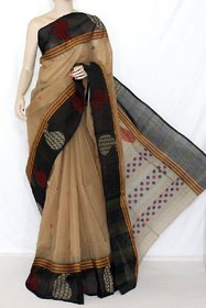 Arooja Handloom Multicolor Kota Block Print Saree Without Blouse