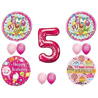 Buy SHOPKINS 5th BIRTHDAY PARTY Balloons Decorations Supplies Kit Online INR2547 From ShopClues