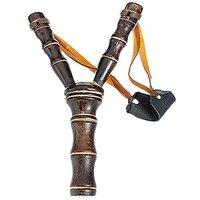 FUBARBAR Bamboo Style Wooden Sling Shot Toys Slingshot