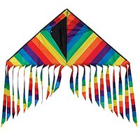 In The Breeze Rainbow Stripe Flutterfly Delta Kite