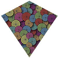 X Kites ColorMax Nylon Multi-Colored Swirls Kite-25 Inc