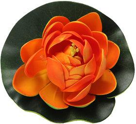 Futaba Foam Lotus Floating Aquarium Decor - Orange - Pack of Two