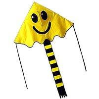 Hengda Kite For Kids YELLOW 47-inch Smiling Face Kite D