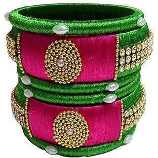 Silk thread bangles set of 6
