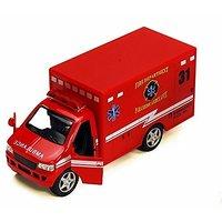 Rescue Team Fire Dept. Ambulance, Red - Kinsmart 5259D - 5