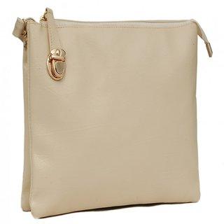 Trendy White Self Design Sling Bag