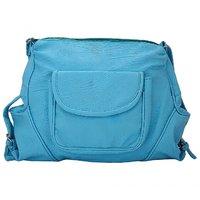 Trendy Blue Self Design Sling Bag