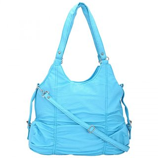 Trendy Blue Self Design Sling Bag