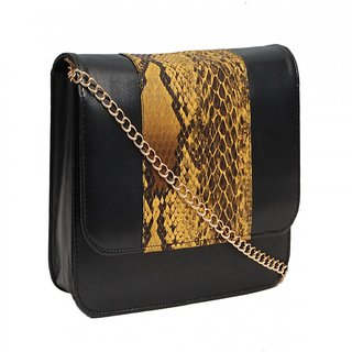 Trendy Black Animal Sling Bag