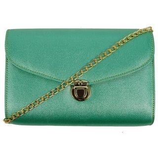Trendy Green Self Design Sling Bag
