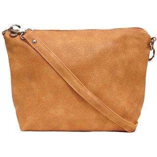 Trendy Beige Self Design Sling Bag