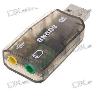 USB Sound Card 3D Virtual 5.1