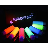 UV Neon Face & Body Paint Glow Kit - Top Rated Blacklight Reactive Fluorescent Paint - Safe, Washable, Non-Toxic, (7 Bottles 2 oz. Each) - 21 LED UV Flashlight - Bonus Paint Brush Set! Midnight Glo