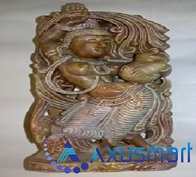 Ratha Krishnan Back and Front   Red marble stone hight 8.6 inch  lenth3.9 inch  1.5kg