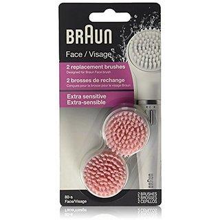 Braun Face 80 - Pack of 2 Brush Refills for Braun Mini-Facial Epilator and Facial Cleansing Brush Gentlemens Tonic Advanced Derma-Care Hydro Fresh Cream Cleanser 100ml/3.4oz