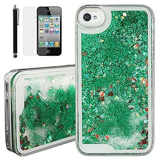 best service be692 c0282 Buy iPhone 4S Glitter Case, iPhone 4S Transparent Cover, Qbily Hard ...